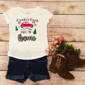 Country roads graphic T-shirt, onesies, tops,decal